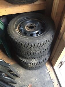Winter tires on steelies 195/65/15