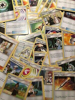 Pokemon TCG 100 Trainer Card Lot - 100% AUTHENTIC