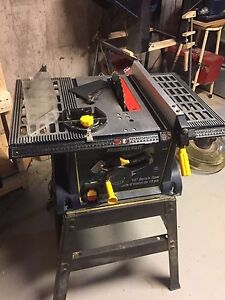 Mastercraft 10 inch table saw  with stand