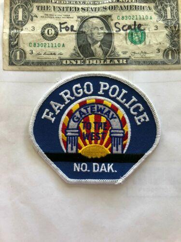 Fargo North Dakota Police Patch un-sewn in great shape