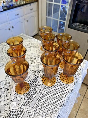 Imperial Old Williamsburg Amber Tea & Water Goblets