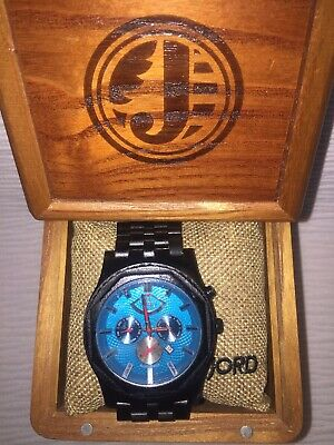 Jord Sawyer Series Ebony Wood Watch 50mm 7-hand self-wind. Auto. Chrono. w Date  Hand Wind Watch Series