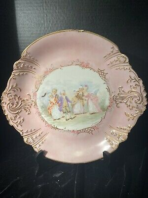 hand painted birds Antique Limoges Demartial French porcelain,picture frame