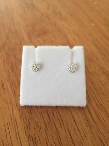 Kids Silver 925 heart stud earrings NEW Burns Beach Joondalup Area Preview