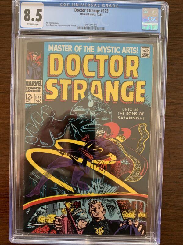 Doctor Strange #175 CGC 8.5 (Marvel 1968) Classic cover.  Key!