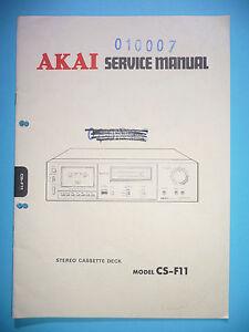 instrucciones-Manual-de-servicio-para-Akai-CS-F11-ORIGINAL