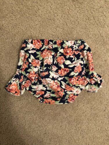 The Little Spoons Navy Floral Flutter Bloomers Diaper Cover