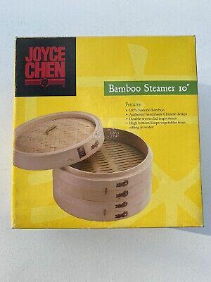 Joyce Chen Bamboo Steamer Set, 10-inch Tan