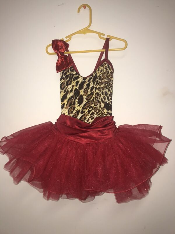 Weissman Gitls Red Dance Titu Dress Size CM