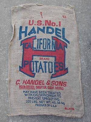 "1 Qty - 24"" x 40"" Used Burlap Potato Sack/Bag Rat Rod, Sack Race, Feed/Seed"