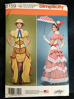 OOP S 8159 Victorian Steampunk Cosplay dress costume pattern Poppins 14-22 UNCUT