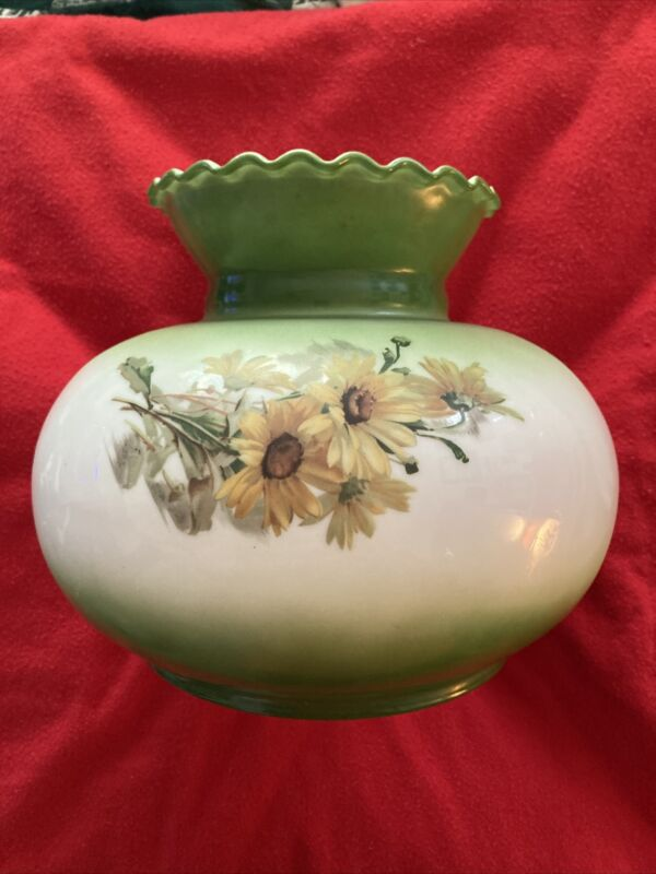 """Antique Palor Handpainted Floral Lampshade Truly Beautiful 9"""" Shade"""