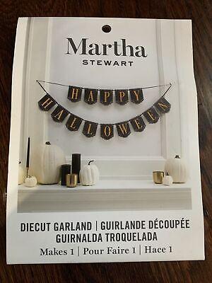 NEW Martha Stewart Happy Halloween Diecut Garland Bunting Party Decoration