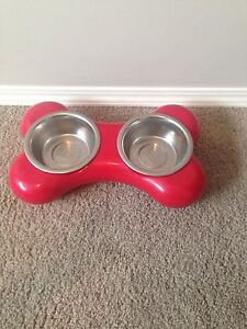 """""""Bone bowl"""" red, size small"""