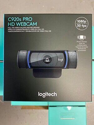 Logitech C920s Pro HD 1080p Webcam w/ Privacy Shutter 960-001251 FREE SHIPPING!