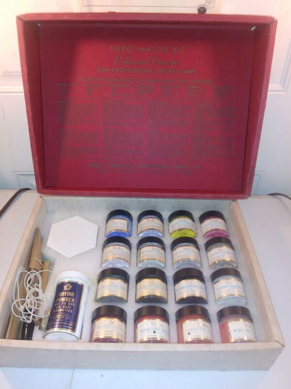 Pierce Master Kit Professional Cosmetics For Mortician Antique Rare surgical