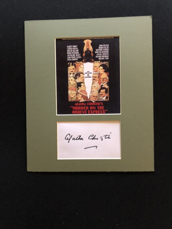 """Agatha Christie's """"Murder on the  Orient Express"""" Mini Poster.  Reproduction"""