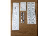 Vintage NOS NEW Colnago Super black frame decals decal sticker set sheet