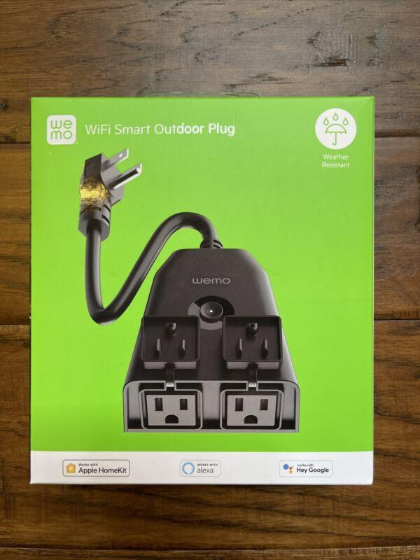 Wemo WiFi Smart Outdoor Plug - Black NEW