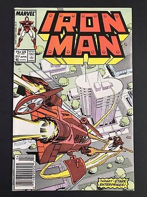 Iron Man (1st Series) #217 1987 MARK JEWELERS JEWELER VARIANT FN/VF
