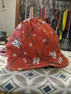 Wendys Welding Hat Made With Barbed Wire And Skulls Fabric New