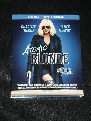 Blu-Ray movie ATOMIC BLONDE DvD & Digital Included, Charlize Theron James McAvoy