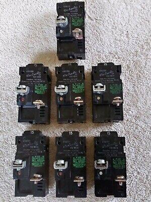 7 P115 Bulldog Pushmatic 15a 15 Amp Single 1 Pole Breakers