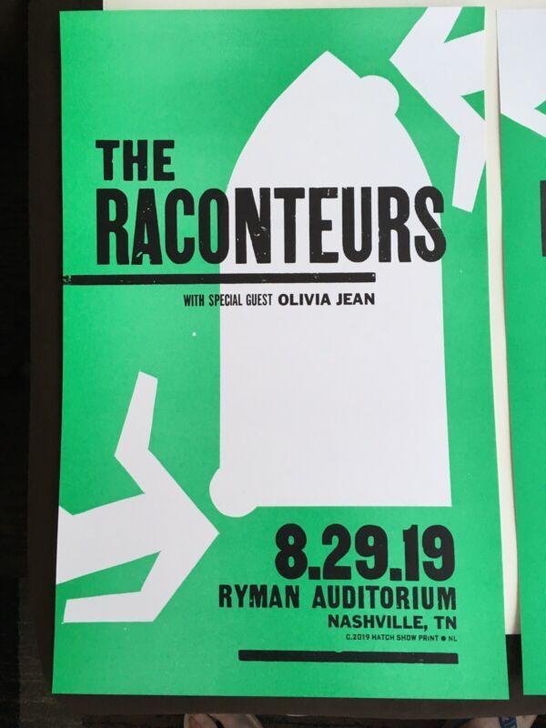Raconteurs Ryman Hatch Show Print 8/29 2019 Mint Jack White