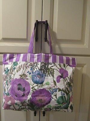New Estee Lauder tote shopping bag large flower purple pretty
