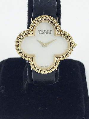 Van Cleef & Arpels Alhambra 18k Yellow Gold 750 Wrist Watch 13409 MOP