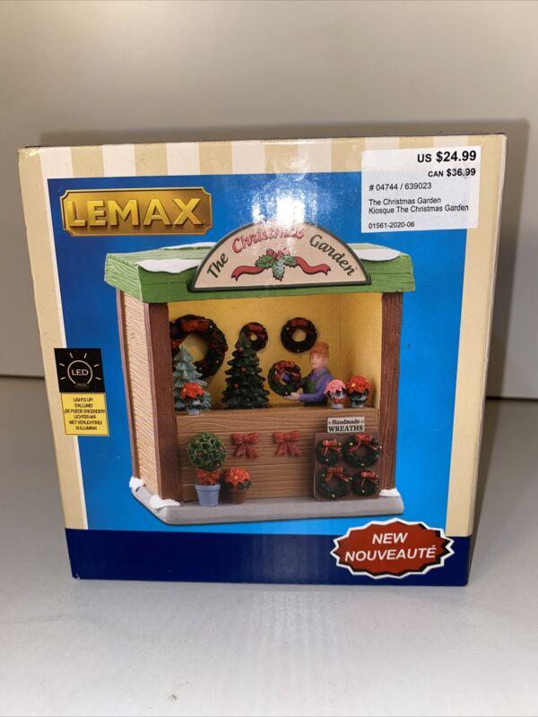 LEMAX The Christmas Garden Christmas Village #04744 In Box