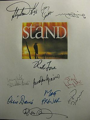 The Stand Signed Script X11 Stephen King Gary Sinise Molly Ringwald Rob Lowe rpt