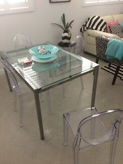 IKEA Glass table dining setting extendable