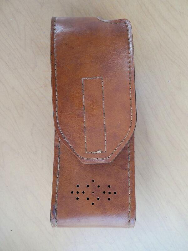 Vintage Brown Radio Holder Holster Carrying Case