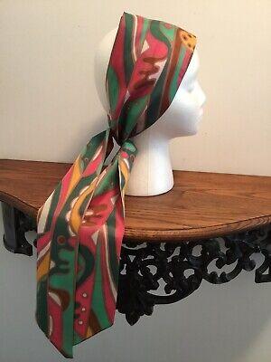 Vintage Scarf Styles -1920s to 1960s Vintage Mod Designer Print Neck Headband Scarf $22.00 AT vintagedancer.com