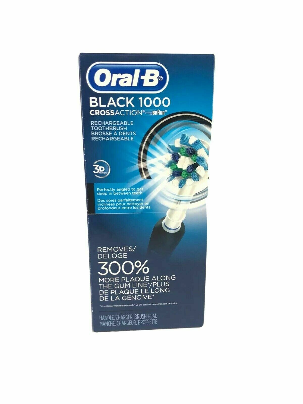 Oral-B Black Pro 1000 Power Rechargeable Electric Toothbrush