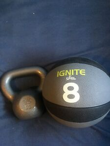Kettle bell and medicine ball