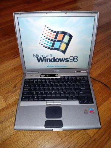 "Laptop Windows - Dell Latitude D600 Laptop Windows 98, 1.6GHz, 20GB HD , 14"" Screen"