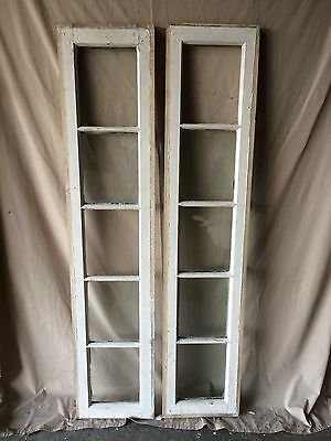 Pair Antique Entrance Door Glass Sidelight 5 Lite Vintage Old Window 1813-16
