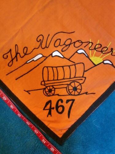 Neckerchief Wagoneers Troop 467 embroidered vintage custom Boy Scouts of America
