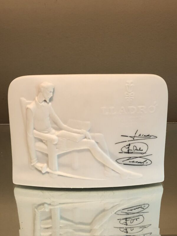 Lladro Display Plaque Don Quixote Collectors Society Signed Shell Back