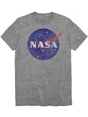 Youth Boys NASA Logo T-Shirt Distressed Graphic Tee Gray Distressed Logo Kids T-shirt