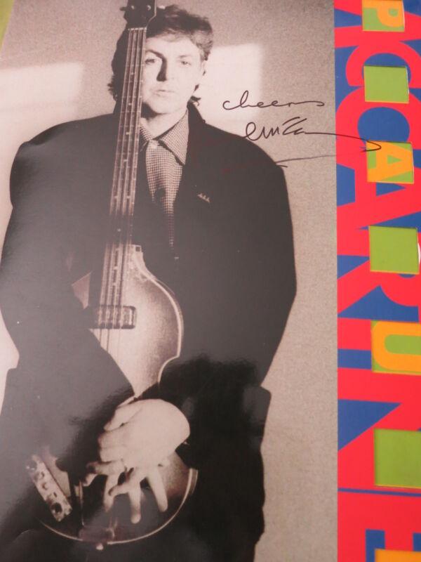 Paul Mccartney Signed Tour Program Coa Roger Epperson! Beatles