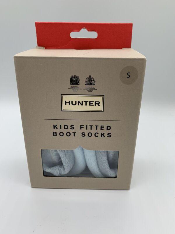 HUNTER Kids Blue Fitted Fleece Boot Socks Liners Sz Small Sz 8-10 NIB