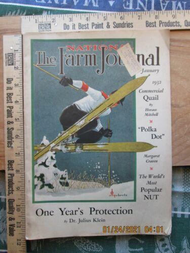 farm journal magazine jan 1932