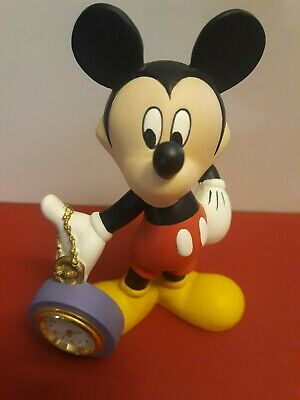 WALT DISNEY MICKEY MOUSE TIME KEEPER FIGURE WITH POCKET WATCH