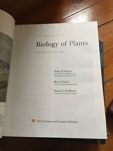 Biology of plants text books