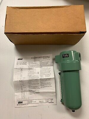 Lincoln Air Line Filter 602117 1 Ports Automatic Drain Brand New Free Ship