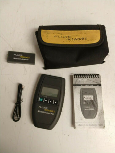 Fluke Microtest Microscanner Pro Cable Tester INCLUDING WIREMAP ADAPTER