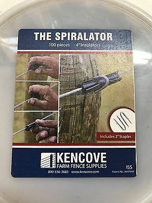 Spiral Tube Insulator 4 100 Pk With Staples